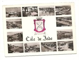 Cp, 44, Côte De Jade, Multi-Vues, Voyagée 1954 - France