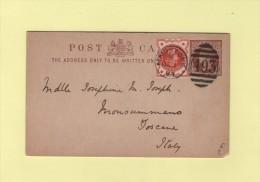 Maidstone - 1893 - Destination Italie Toscane - 1840-1901 (Regina Victoria)