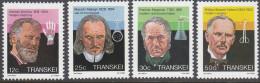 TRANSKEI, 1985 DOCTORS 4 MNH - Transkei