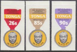 TONGA, 1978 KINGS B/DAY 3 OFFICIAL AIRMAIL MNH - Tonga (1970-...)