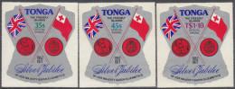TONGA, 1977 JUBILEE OFFICIAL AIRMAIL 3 MNH - Tonga (1970-...)