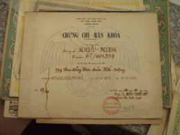 South Viet Nam Vietnam ARVN Air Certificate Isued. In 1973 By Squadron Leader BUI THE SI - Historical Documents