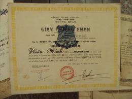 South Viet Nam Vietnam ARVN Certificate 1971 Issued In KBC 3004 By Air Commodore HUYNH BA TINH - Historical Documents