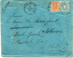 - ITALIE - Lettre CINIGIANO Pour MOULINS (France) Pour PONTE-GINORI 15 GIU 1897 - Affranchissement + Cachets A ETUDIER - - 1878-00 Umberto I