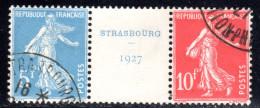N° 242A (EXPO STRASBOURG 1927 Signé CALVES)  COTE= 900 Euros !!! - Usados