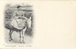Pays- Basque - Paysanne Sur Son âne - Carte ND Phot. Précurseur, Non Circulée - Europe