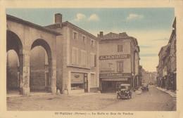 CPA - St Vallier - La Halle Et Rue De Verdun - Sonstige Gemeinden