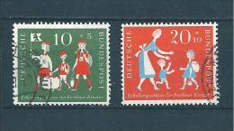 Allemagne Fédérale Timbre De 1957   N°129 Et 130  Oblitéré - BRD