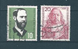 Allemagne Fédérale Timbre De 1957   N°131  Et  132  Oblitérés - BRD