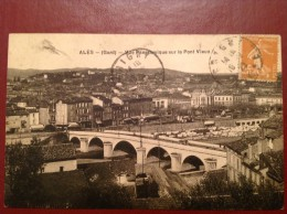 30 Gard ALAIS ALES Vue Panoramique Sur Le Pont Vieux - Alès