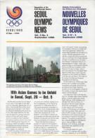 SOUTH KOREA 1986 - NEWSLETTER OF THE 24th OLYMPIC GAMES SEOUL 1988 - VOL. 3 # 3 - SEPTEMBER 1986 - Boeken