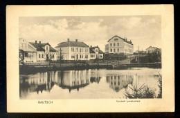Bautsch / Vorstadt Larchenfeld ------ Postcard Traveled - Tsjechië