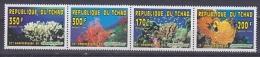Republique Du Tchad 1996 Greenpeace Corals Strip 4v ** Mnh (18470) - Tsjaad (1960-...)