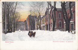 CPA  CANADA - MONTREAL - Mountain Street In Winter - Montreal