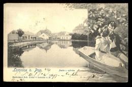 Lomnice N. Pop. Partie U Rybnika / Nakladatel Boh. Jodas  ------ Old Postcard Traveled 1903 - Tsjechië