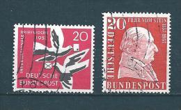 Allemagne Fédérale Timbre De 1957   N°148 Et 149  Oblitérés - BRD