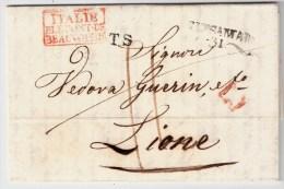 Italia, 1837, Lombardo-Veneto, Brescia Al Lyon , S743 - Italie