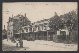 DF / 71 SAÔNE ET LOIRE / MACON / LA GARE / CIRCULÉE EN 1924 - Macon