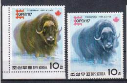 KOREA 1987 CAPEX 87 TORONTO MUSK OX - Stamps