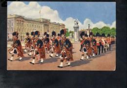 F2854 The Scots Guard Pipers - London, England - Military, Militaire, Uniformi, Uniform - Cartolina D´epoca O Antica - Reggimenti
