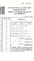 NAPOLI  SUPERGARAGE FIAT - Fatture & Documenti Commerciali