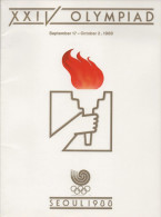 SOUTH KOREA - XXI OLYMPIAD - OLYMPIC GAMES SEOUL 1988 - MAGAZINE PUBLISHED BY OLYMPIC ORGANIZING COMMITTEE - Libros