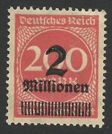 Germany, 2 Mm. On 200 M. 1923, Sc # 269, Mi # 309, MNH - Deutschland