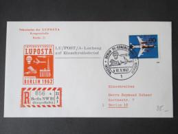 Berlin 1962 Luposta Michel Nr. 230 Mit Perfin! R-Zettel Berlin NW 21 Kongreßhalle. Sonderbeleg - Berlin (West)