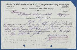 Göppingen,Göppinger Gelatinefabriken Paul Koepff,1920,Deutsche Gelatinefabriken A.-G., - Mitteilung