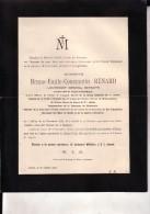 IXELLES TOURNAI Bruno Emile RENARD Lieutenant-général Retraité 1834-1901 Doodsbrief Faire-part Décès - Todesanzeige
