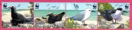 Pitcairn, 2007,  Weltweiter Naturschutz: Seevögel, MI 717-720, Viererstreifen, MNH - Birds