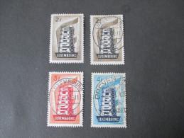 Luxemburg Europa 1956 Satz Gestempelt Und Nr. 555 Postfrisch! Hoher Katalogwert!! Ordentliche Qualität! - Luxemburg