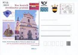 Czech Rep. / Postal Stat. (Pre2011/23) Night Of Churches 2011, Archdiocese Of Prague (Prague Infant Jesus) - Postwaardestukken