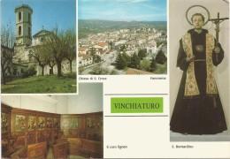 K1812 Vinchiaturo (Campobasso) - Chiesa Di Santa Croce - San Bernardino - Coro Ligneo / Non Viaggiata - Autres Villes