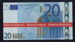 """Typ A = Educativ Didactico Educational """"Spain 1999"""" 20 Euro, Billet Scolaire, Size 108 X 58 Mm, RRRRR, UNC - EURO"""