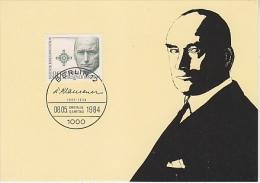 Berlin 1984 Dr. Erich Kluasener  1v Maximum Card (18483) - [5] Berlijn
