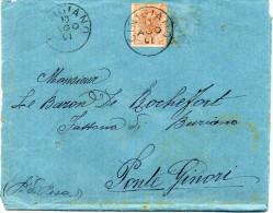 - ITALIE - Lettre CINIGIANO Pour PONTE GINORI 10 AGO 1901 - 20 C. Orange Humbert 1er - - 1878-00 Umberto I