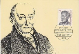 Berlin 1984 Dr. Ernst Ludwig Heim  1v Maximum Card (18484) - [5] Berlijn