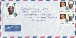 Zaire Congo 1989 Kinshasa 1 Letter R Pope John Paul II Sister Anuarite Cover - Zaïre