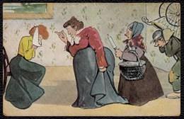 1928 - CPA * MAL AUX DENTS - LES COMMERES DU QUARTIER ADVISENT ... * Carte Allemande 1928 - Humour