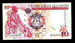 LESOTHO:  10 Maloti - 2009  - UNC - Lesoto