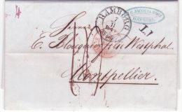 1848- Letter From HAMBURG + T.T ( Tour & Taxis Transit ) Postage 14 D. - Hambourg