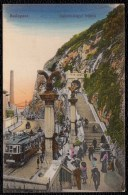 1913 BUDAPEST - * Gellért Hegyi  Feljaro * - TRAM - RARE !! 2 Scan - Hongrie