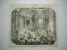 GRAVURE 1858. CATASTROPHE ARRIVEE A L'EGLISE SAINT-SULPICE, LE 8 JANVIER 1858. - Prints & Engravings