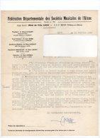 784H) - LAON - FEDERATION DEPARTEMENTALE DES SOCIETES MUSICALES DE L´AISNE-1960 - Publicités