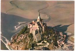 CPM FRANCE 50 MANCHE LE MONT-SAINT-MICHEL - Vue Aérienne 1970 - Le Mont Saint Michel