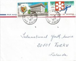 Senegal 1972 Dakar Annexe Olympic Games Sapporo Japan Ice Speed Skating Lion Armory Cover - Inverno