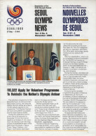 SOUTH KOREA 1985 - NEWSLETTER OF THE 24th OLYMPIC GAMES SEOUL 1988 - VOL. 2 # 4 - NOVEMBER 1985 - Libros