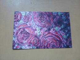 """Carte De Visite """"Frédérique IWULSKI - Artisre Peintre AIX LES BAINS (73)"""" (fleurs) - Visiting Cards"""