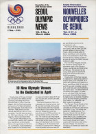 SOUTH KOREA 1986 - NEWSLETTER OF THE 24th OLYMPIC GAMES SEOUL 1988 - VOL. 3 #  1 - MARCH 1986 - Libros